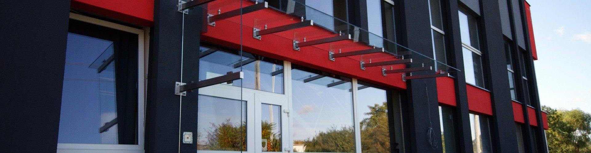 startowe zdjęcie daszków ze szkła firmy vitroglass