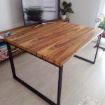 Stoliczek do kawy z drewna