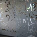 szklana nowoczesna ścianka do łazienki