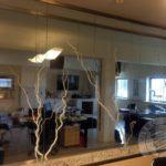 nowoczesna szklana ścianka z nadrukiem do biura lub domu